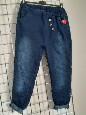 Made in Italy Pantalón abombado azul