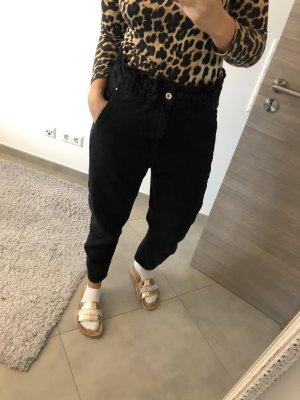 Zara Vaquero holgados negro