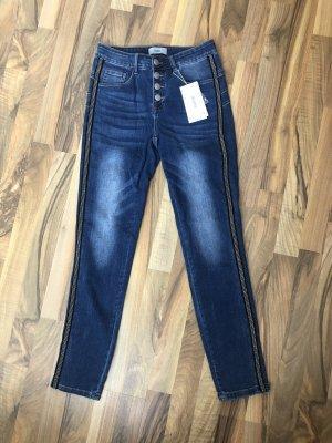 Heine Pantalone cinque tasche blu scuro-blu