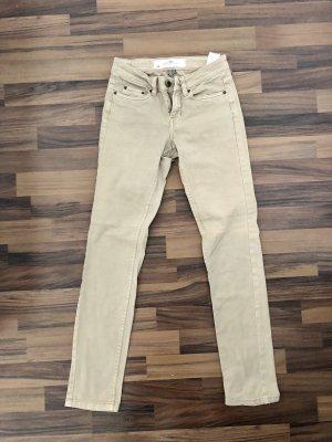 H&M Jeansy z prostymi nogawkami beżowy