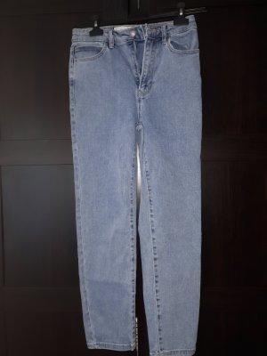 Bershka Wortel jeans lichtblauw-azuur Katoen