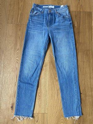 Bershka Jeans 7/8 bleu azur-bleuet