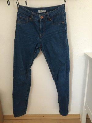 Bershka Pantalon taille basse bleuet