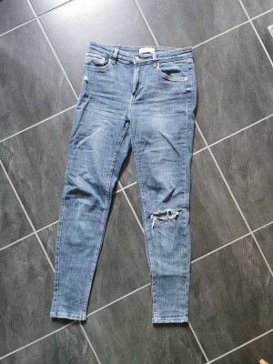 Bershka Pantalon cigarette bleu pâle