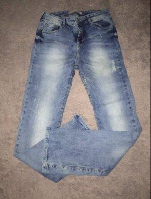 Bershka Jeansy z prostymi nogawkami niebieski-jasnoniebieski