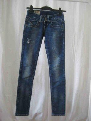 Jeans Bershka, Skinny, Used Look Stretch Größe 34 - casual Look