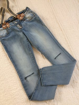 Amisu Jeans stretch bleuet