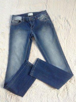 Lage taille broek blauw