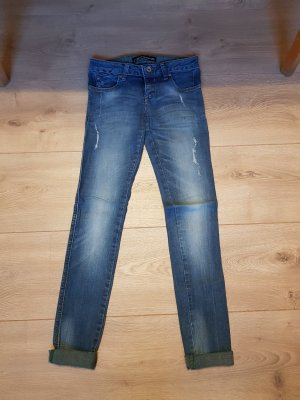 Jeans blau used grün Push up XS 34
