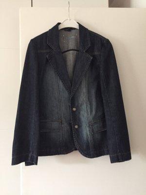 Blazer en jean bleu azur-bleu acier