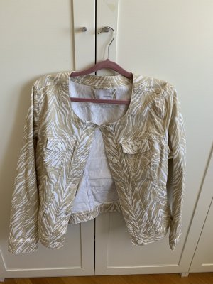 Jeans Blazer beige mit Muster