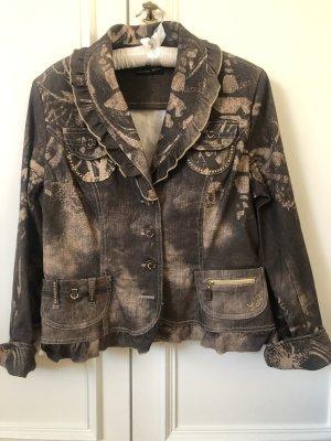 Blazer in jeans bronzo-color cammello Cotone