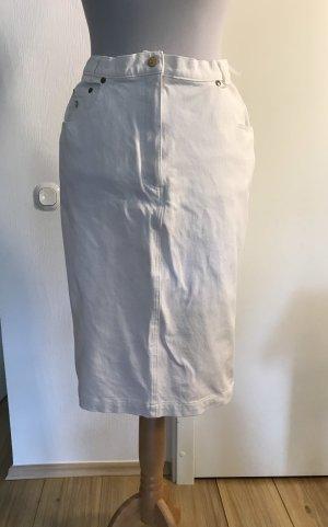 ae elegance Falda de tubo blanco Algodón