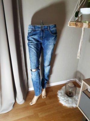 Blind Date Jeans a sigaretta blu Cotone