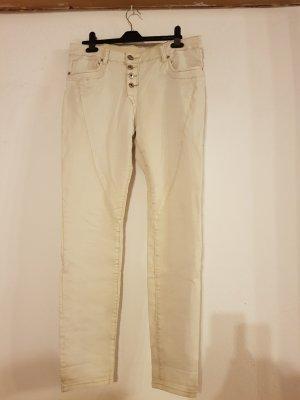 Jeans Blind Date Mister Lady weiß/creme Ziernähte
