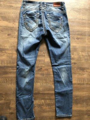 Blue Monkey Jeans taille basse bleu