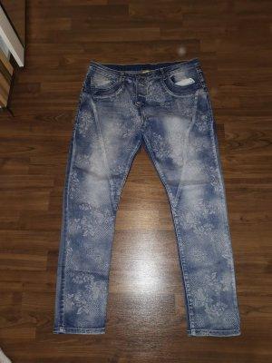Jeans Blumen 42
