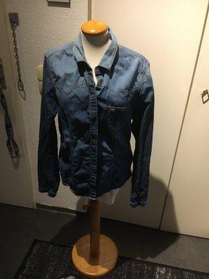 Bluzka jeansowa stalowy niebieski
