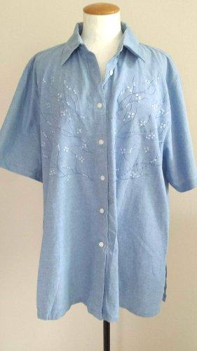 Ezie Corsi Blouse en jean bleuet coton