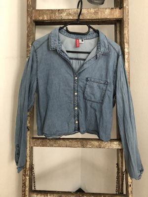 H&M Divided Denim Blouse multicolored