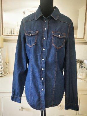Orsay Blouse en jean bleu foncé