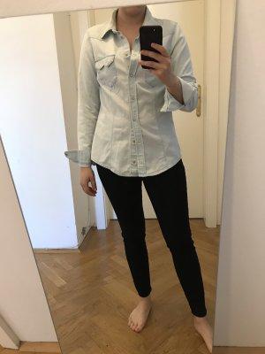 H&M Blouse en jean doré-bleu