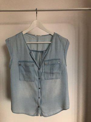 Promod Bluzka jeansowa błękitny-jasnoniebieski