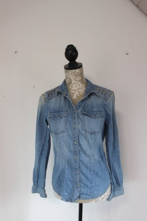 Only Blusa denim blu neon