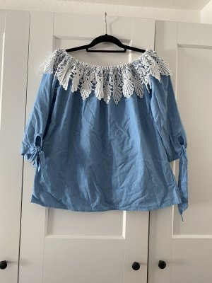 Jeans Bluse spitze