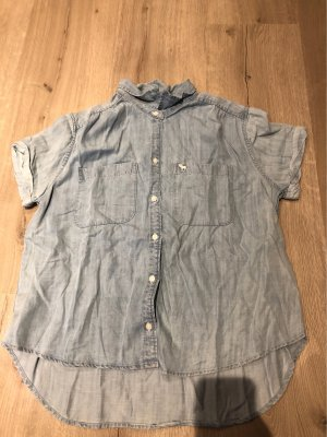 Abercrombie & Fitch Blusa denim blu