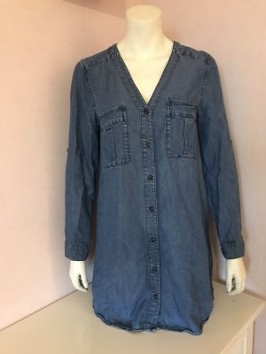 Jeans-Blusenkleid mit V-Ausschnitt von H&M