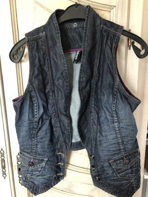 Blazer en jean bleu acier