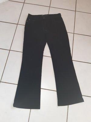 Jeans bootcut noir coton