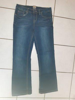 Pantalon boyfriend bleu foncé coton
