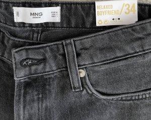 Mango Boyfriend Jeans black