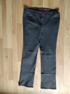 Brax Jeans a gamba dritta grigio scuro Cotone