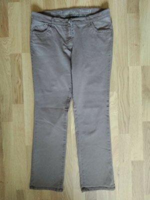 Brax Jeansy z prostymi nogawkami jasnobrązowy Bawełna