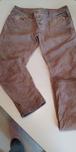 Buena Vista Jeansy rurki szaro-liliowy-bladofiołkowy
