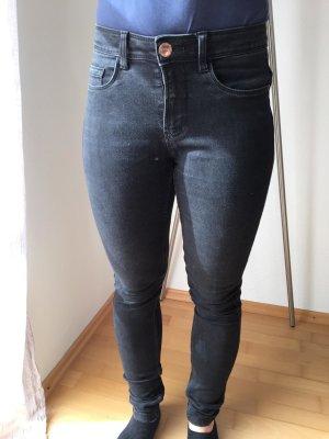 Only Jeans cigarette gris foncé tissu mixte