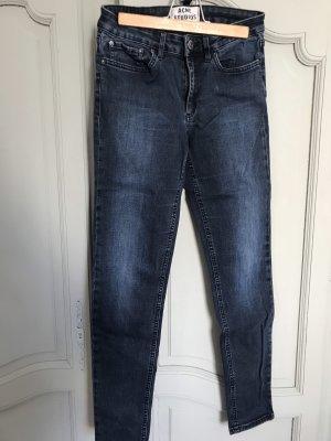 Acne Studios Dopasowane jeansy ciemnoniebieski