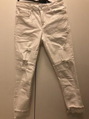 Koton Pantalón de cintura alta blanco