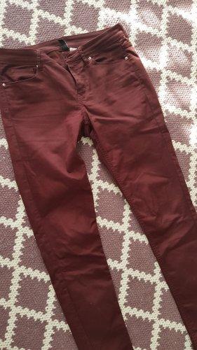 H&M Jeansy z prostymi nogawkami bordo