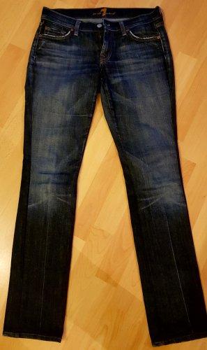Seven7 Jeansy z prostymi nogawkami stalowy niebieski