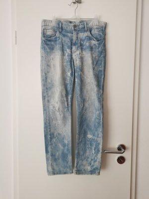 Dopasowane jeansy jasnoniebieski-niebieski