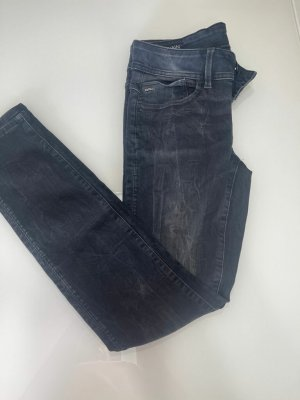 G-Star Raw Jeans carotte bleu foncé tissu mixte