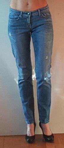 Cambio Jeans Jeansy typu boyfriend błękitny Bawełna