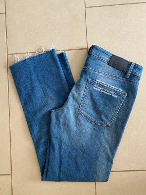 Cambio Jeans Jeansy 7/8 stalowy niebieski-chabrowy