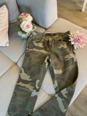 Jeans  Camouflage Gold