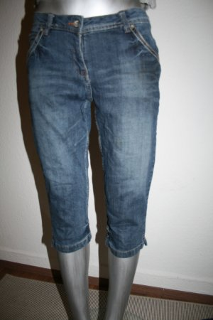 Alive 3/4 Length Jeans blue cotton
