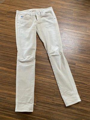 Jeansy typu biker jasnobeżowy-kremowy